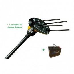 Abbacchiatore per olive elettrico GIULIVO 4 YOU + Batteria 60 Ah + 2 Bacchette omaggio