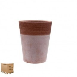 Vaso in terracotta Orchid Basic Graffiato