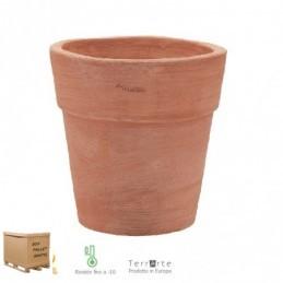 Vasi di terracotta da giardino bordato standard cm. 25