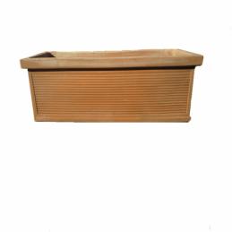 Fioriera Cassetta Millerighe 100 cm –  Terracotta antigelo Trequanda