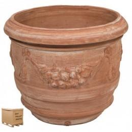 Vaso tondo Barile Festonato 40 CM – Tondo terracotta