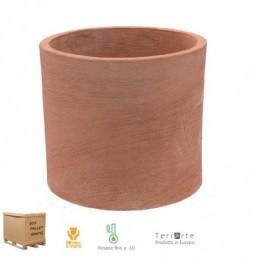 Vaso in terracotta Cilindro Basic Moderno 45 CM