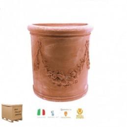 Vaso Semicircolare Festonato 60cm – Vaso da parete /  muro