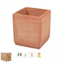 Vasi in terracotta da esterno – Cubo Basic Medio cm 40 – Quadrato
