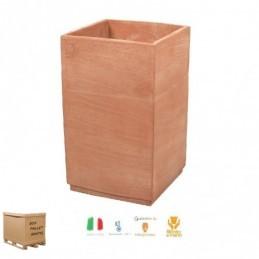 Vasi in terracotta da esterno – Cubo Basic alto cm 60 – Quadrato