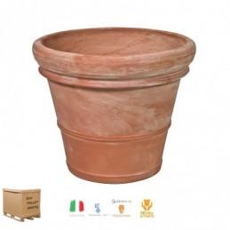 Vasi di terracotta da giardino – Vaso doppio bordo liscio cm.30