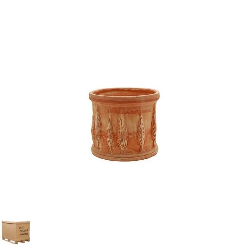 Vasi da esterno in terracotta- CILINDRO CIPRESSI 18CM