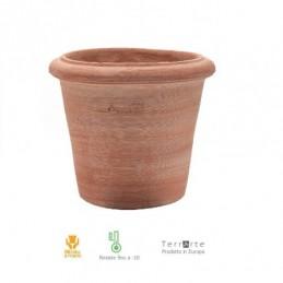 Vasi in terracotta da giardino Cilindro Liscio Montelupo cm. 35 II scelta